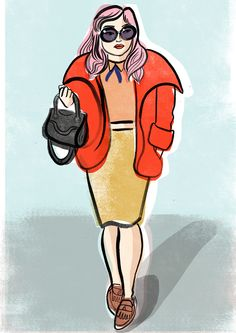 A sketch from London Fashion Week by Sarah Tanat-Jones http://sarahtanatjones.com