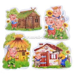 Fairy Tale Theme, Fairy Tales, Drawing For Kids, Painting For Kids, Felt Board Stories, Writing Pictures, Three Little Pigs, Cartoon Sketches, Crafts For Kids To Make