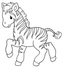 Desenhos de zebra para colorir, pintar, imprimir! Desenhos com a letra Z…