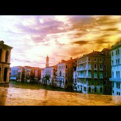 Venice sunset after storm