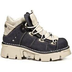 New Rock Metallic Leather Boots - Design: M.106-R12