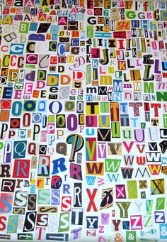 MultiColor Set 2 Printable Digital Alphabet, A to Z, Magazine Letters (WITH FREE SET) Collage Letters, Ransom Note via Etsy
