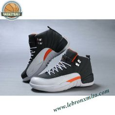 330690-011 Air Jordan 12 Gray White Orange