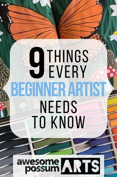 My nine top tips for beginner artists, to help you feel confident and reassured as you start your career as a freelance artist. Flow State, Comparing Yourself To Others, Creative Skills, New Things To Learn, Need To Know, Improve Yourself, How To Make Money, How Are You Feeling, Awesome
