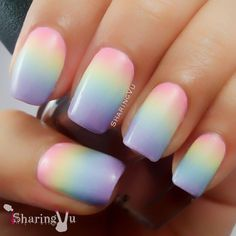 Nailpolis Museum of Nail Art |  Pastel Gradient by SharingVu