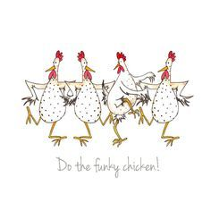 """""""Do the Funky Chicken!"""" by Sarah Boddy (DoodleDoo Personalised Charity Cards)"""