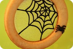 Spiderweb Stained Glass Cookies. So clever!