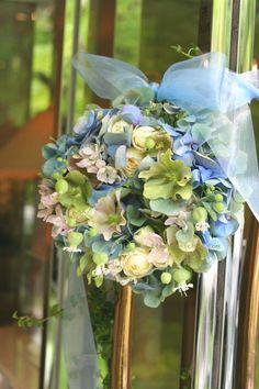 八つ山様の装花 やわらかな : 一会 ウエディングの花