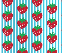 Strawberry stripe james fabric by Dollyrockers.