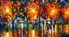 rain-   Leonid Afremov