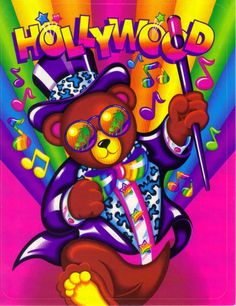 Lisa Frank Sticker Hollywood Bear in Collectibles, Paper, Stationery Lisa Frank Stickers, 90s Kids, Pretty Pictures, Art Pictures, Cool Artwork, Childhood Memories, Framed Art, Party Supplies, Hollywood