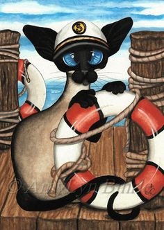 """Siamese Sailor"" par Amy Lyn Bihrl"
