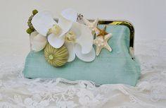 Beach Wedding / Bridal Handbag / Tropical by PetiteVintageBags, $72.00