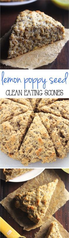 Healthy Lemon Poppy Seed Scones -- so easy, supremely tender & packed with almost 5g of protein!