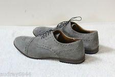TOPMAN Grey Suede Leather Men's Brogues Shoes UK 10 EU 44 Worn twice