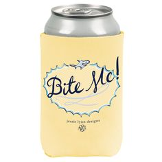 """Let your southern sass shine with this """"Bite Me"""" reversible koozie! 