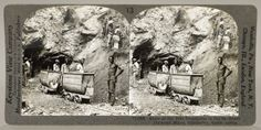 """The """"largest hole"""" at De Beers Diamond Mines, Kimberley, S. Africa Keystone View Company, © Underwood and Underwood, c. 1930. Mines cut the earth open, & stereographic viewers allowed men, women, & children to imagine they were looking inside the abyss from a safe distance. Such photographic views became popular at the end of the 19th cen. & were distributed internationally. These stereographs depict the diamond mine of Kimberley, S. Africa, popularly known as the Big Hole. #earthmatters"""