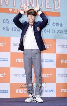 [02.09.2015] MyungJun na coletiva de imprensa de To Be Continued