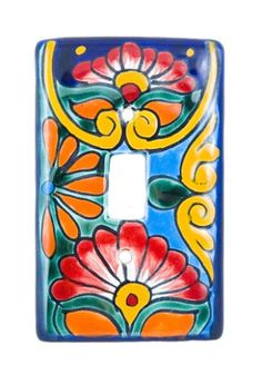 $20.15-$25.19 Baby Mexican Talavera Switch Plate #1 (Green Base) - MCG - This Talavera Switch Plate #1 (green base) will add color and style to any room. Fits most standard switch plate mounts with single light switch. Each switch plate has two holes for easy installation. Please note that our multi-color styles each come in a different color combination. All Switch Plates #1 are only available  ...