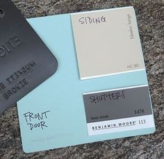 what color to go with for the front door and shutters. Maybe a light aqua? By mid-month, we embark on a construction project where walls wi...