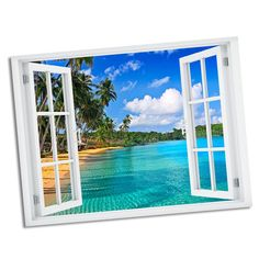 Found it at Wayfair - Declined Palms Paradise Window Art Wall Decal