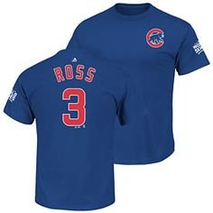 Chicago Cubs David Ross 2016 World Series Name and Number T-Shirt