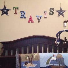 Nautical Themed Nursery Letters