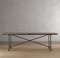 Flatiron Dining Table - traditional - dining tables - Restoration Hardware