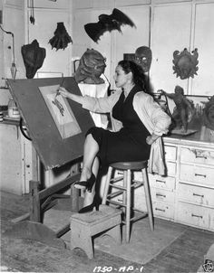 Disney Animator Millicent Patrick Designed the Creature - Creature from the Black Lagoon (1954)