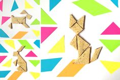 Play with Your Food! Tangram Puzzle Sandwiches