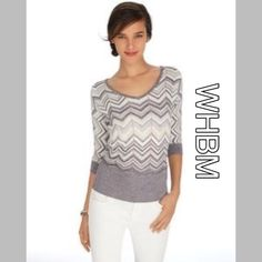 White House Black Market Sweaters - ⚡️New Listing⚡️WHBM Metallic Chevron Dolman