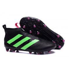 2016 Adidas Ace16+ Purecontrol FG-AG Botas De Futbol Negro Verde