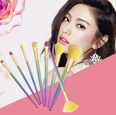 Color Makeup Brushes Sets Pro Hair Eyebrow Foundation Brush Pen Cleaner Cosmetics Blusher Cosmetics Tools It Cosmetics Brushes, Eyeshadow Brushes, Blush Brush, Foundation Brush, Blusher, Brush Pen, Makeup Brush Set, Makeup Tools, Eyebrows