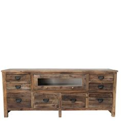 Urban Home Atlas Peak TV Stand - Label drawers for media organization. $499
