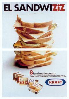 Queso en lonchas ZIZ de Kraft, 1975