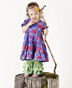 Matilda Jane Clothing ~ Paint By Numbers ~ LEMONGRASS BENNYS