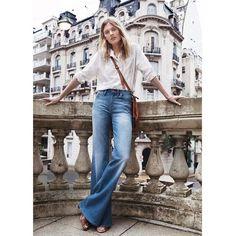 We  flare jeans this season #flaredenim #flarejeana #denimroom #streetstyle #getthelook
