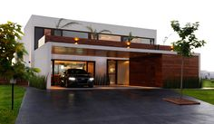 Driveway, Garage, Entrance, Modern House in Buenos Aires, Argentina