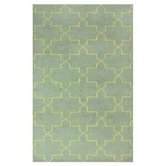 Overdyed wool rug with a Moroccan trellis motif. Hand-knotted in India.  Product: RugConstruction Material: WoolColor: GoldFeatures:  Hand-knottedMade in India Note: Please be aware that actual colors may vary from those shown on your screen. Accent rugs may also not show the entire pattern that the corresponding area rugs have.