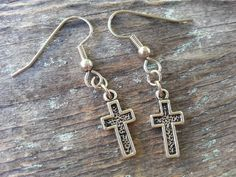 Check out this item in my Etsy shop https://www.etsy.com/listing/251214365/tiny-cross-earrings