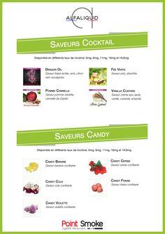 Point Smoke - Liquides Alfaliquid - saveurs Cocktails et Candy - #eliquide #alfaliquid #cocktail #candy #pointsmoke - http://www.point-smoke.fr/liquides-saveurs-gourmandes.htm