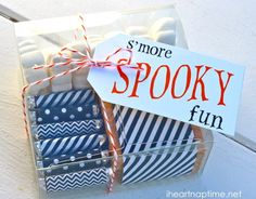"Cute Halloween Printable ""s'more spooky fun"""