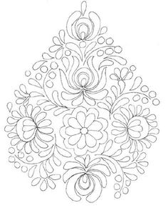 rita barton painted hungarian folk art flowers paint in a monochromatic colour scheme for a beautiful project or practice sheet - PIPicStats Mexican Embroidery, Hungarian Embroidery, Folk Embroidery, Learn Embroidery, Ribbon Embroidery, Embroidery Stitches, Embroidery Patterns, Embroidery Techniques, Flower Patterns