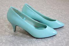 Lighter aqua 80's heels