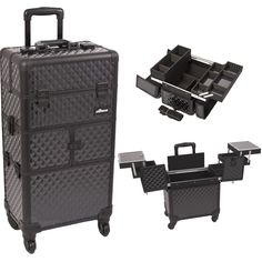 Sunrise Outdoor Travel Professional Cosmetic Holder Black Diamond Trolley Makeup Case - I3264 * Don't get left behind, see this great outdoor item : Travel essentials
