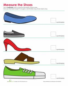 Worksheets: Shoe Measurement