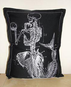 Mermaid anatomy pillow