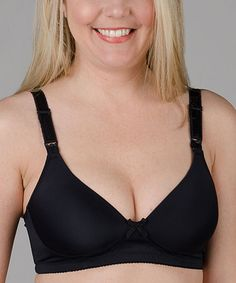 65907b1744988 Another great find on #zulily! Black Original Nursing Bra - Plus Too by  Momzelle