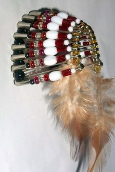 american indian bead crafts | beautiful rendition of a headdress of the native american indians ...