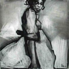 Saatchi Online Artist: Ruth Franklin; Charcoal, Drawing Prom